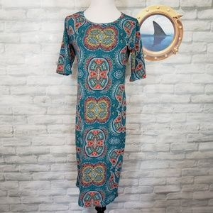 Lularoe teel paisley Julia dress
